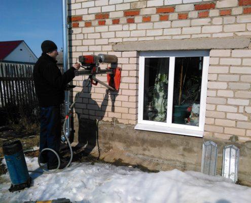 Сверление КИВ-125 для притока свежего воздуха
