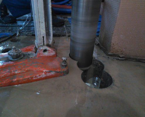 Сверление в плитах перекрытия
