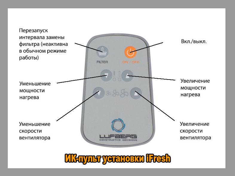 ИК-пульт установки iFresh