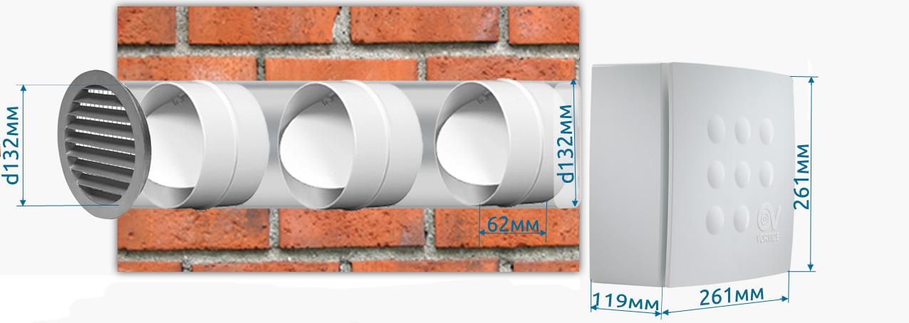 Отвод вытяжки через стену на улицу без промерзания при выключении