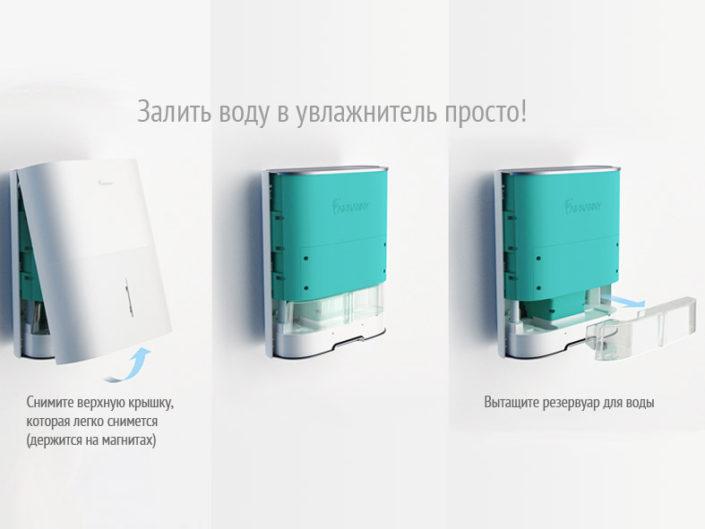 Airnanny как заменить воду